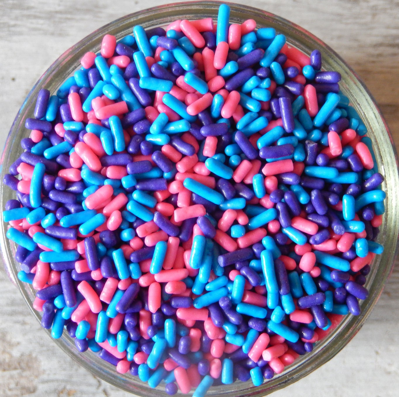 Sprinkles, 6 oz - Purple, Pink, Blue Jimmies Mix - For ...