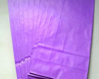 "Purple Paper Treat Bags-4-1/2""X9-1/2""-10 EA"
