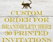 Reserved listing for Brandifletcher2 for 30 Printed Barbie Birthday Invitations with White Envelopes