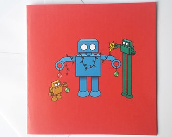 Robot Christmas Card