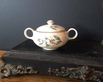 Vintage Salem China Sugar Bowl with Lid, Pattern SLM 48