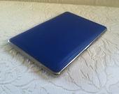 vintage blue enamel cigarette case