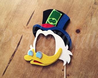 Duck Photo Booth Prop | Scrooge McDuck Mask Prop
