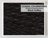 BLACK COFFEE : Classic Colorworks 6- strand embroidery floss hand over dyed overdyed thread formerly Crescent Colours cross stitch