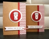 Valentine's Day Card for Coffee Lover, Anniversary Card, Love Card, Coffee, Tea or Me