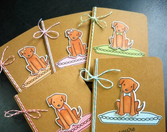 Dog Thank You Cards Set of 5, Dog Lover Cards, Dog Birthday Cards