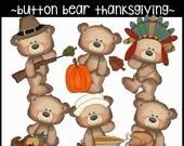 Button Bear Thanksgiving