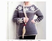 Nordic Snowflake Sweater - Crochet Pattern - Instant Download Pdf