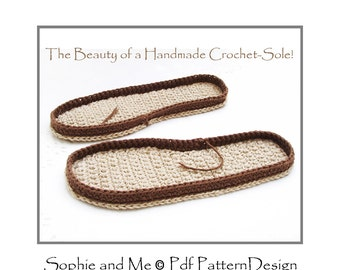 CROCHET SOLES - Any Size Customized -  Instant Download PDF
