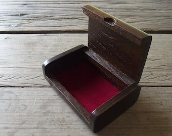 Business Card Multipurpose Holder Accessories Keeper Teak Wood Box