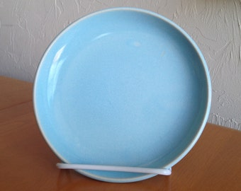 Russel Wright Iroquois Bread Plate Early Production Powder Blue