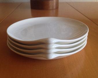 Eva Zeisel Century Bread Plates in Hi White