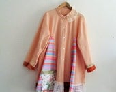 Reserved/ sold to FN, Boho Patchwork Jacket. Plus Size Duster