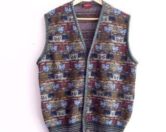 Vintage Men's MISSONI Knit-Vest Made in Italy