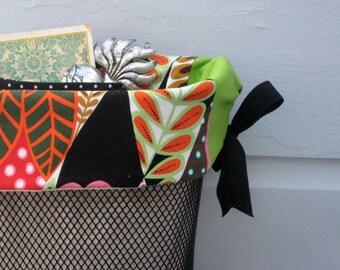 Lime and Orange Jungle Basket Liner