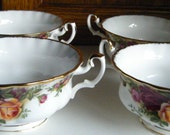 Old Country Roses Soup Bowls  Set of four //Royal Doulton dated 1962