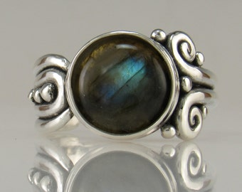 Sterling Silver Labradorite Ring- One of a Kind