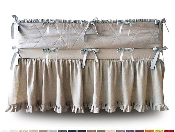 how to make a gathered crib skirt