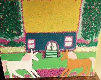 Folk art artis wright painting