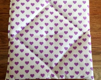Pooch pad Purple Hearts on white for American Girl pets