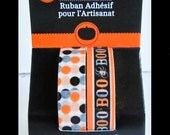 Washi Tape 2 Rolls 6 yards ea =12yd total Adhesive Craft crafts Halloween cards scrapbooking Pattern BOO Spider Polka Dots Dot crafting NEW
