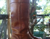 HOLD for Kasey M. Vintage FRYE Cuff Boots, Tall, Leather, Women's 8 B