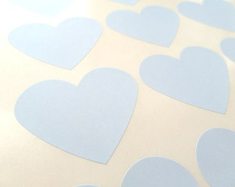 "Heart Sticker, Blue Heart Stickers, Heart Labels, Gift Stickers 2.275"" x 1.8"" - Set of 30"