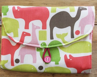 Travel Changing Pad - Diapering on the Go - Pink Options for front and inside styles to choose from