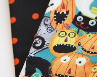 Halloween Lunchbox Napkins - Set of 2 - Pumpkin Faces
