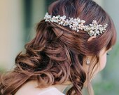 Ornate Beaded and Crystal Hair Vine