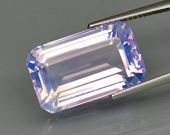 Purple Haze Amethyst 19 x 11 MM, 13.30 Carat Faceted Rectangle, Emerald Cut, Natural Color, Nice Pink to Silver Flash