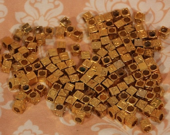 New Lower Price! 140 Vermeil - gold plated sterling - letter beads
