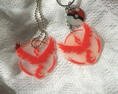 Team Valor Pokemon Go Inspired Necklace or Keychain