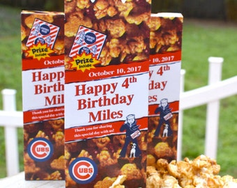 15 Personalized Cracker Jack Boxes Baseball Birthday Party Favors Baseball Party Graduation Favors Baseball Wedding Favors Bat Mitzvah Favor
