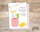 Lemonade Party Invite, DIY Printable