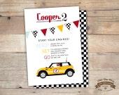 Custom Invite for Maria Ieromonahos. Mini Cooper Car, Birthday, Baby Shower Invite- 5x7 DIY