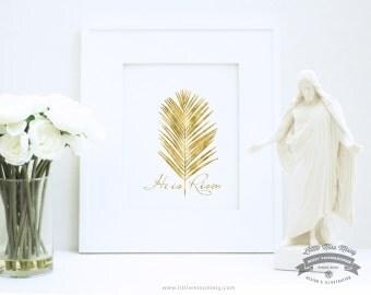 He is Risen, Religious Art in Gold by Little Miss Missy
