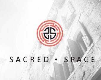 Customizable Pre-made logo design OOAK modern geomatric maze logo