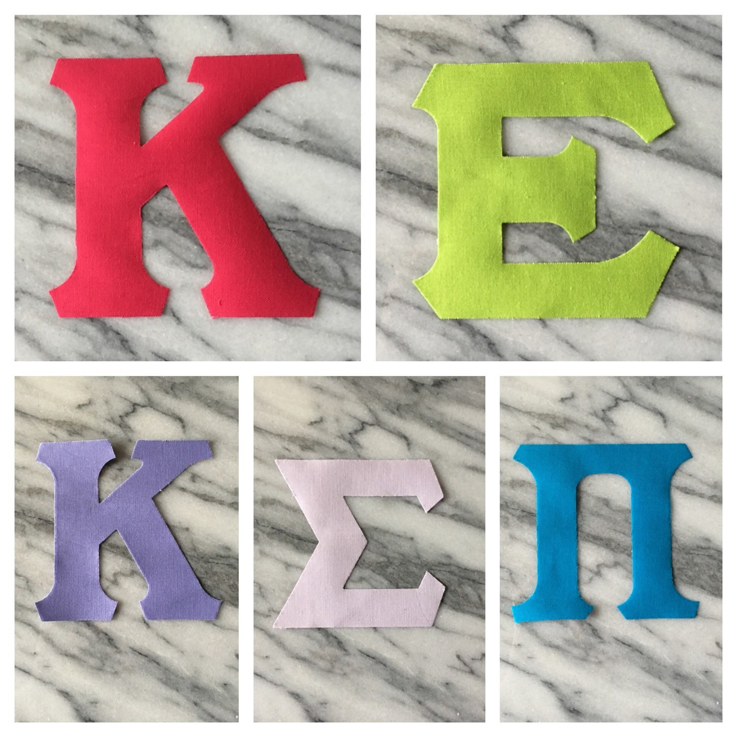 iron on greek letters 1 set iron on letters solid colors 14070 | il fullxfull.844832580 ke92