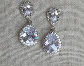 Crystal dangle earrings, bridal earrings, crystal earrings,  brides earrings, bridal party jewelry