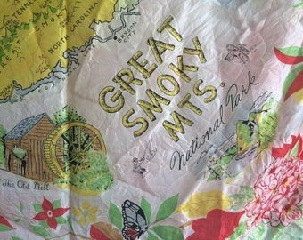 Great Smoky Mts National Park vintage scarf