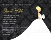 LOVELY BRIDES bridal shower invitation - ANY colour - you print