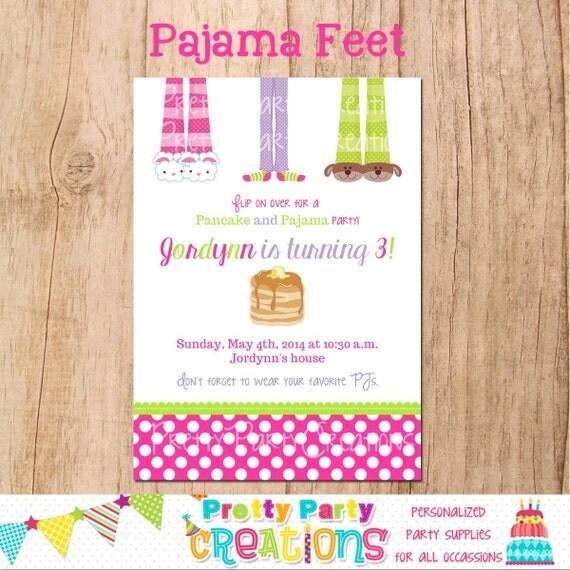 PAJAMA FEET - pancakes and Pajama - sleepover party - YOU Print