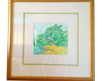 "FREE SHIPPING! Watercolor Painting ""Little Grove"" by Young"