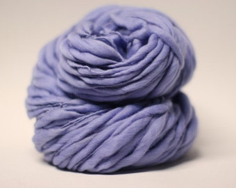 Handspun Yarn Thick and Thin Merino Wool Slub Lavender 02