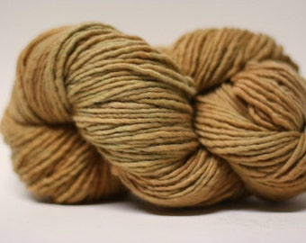 Yarn Worsted Single Ply sp Hand dyed Merino Wsp15022 Gingerbread Man