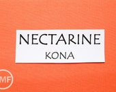 One Yard Nectarine Kona Cotton Solid Fabric from Robert Kaufman, K001-496