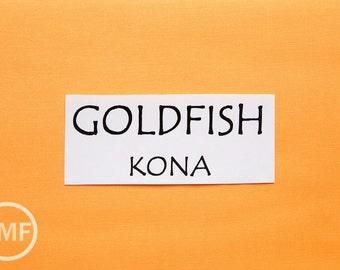 One Yard Goldfish Kona Cotton Solid Fabric from Robert Kaufman, K001-474