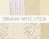 Beige Knit Textures, Cute Creme Beige Sweater Digital Papers, Cottage Chick Wool Papers, Cute Woolen Textures