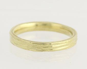 Textured Wedding Band - 18k Yellow Gold Women's Ring Size 6 1/4 N1865